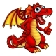 Cartoon Red Dragon - GraphicRiver Item for Sale
