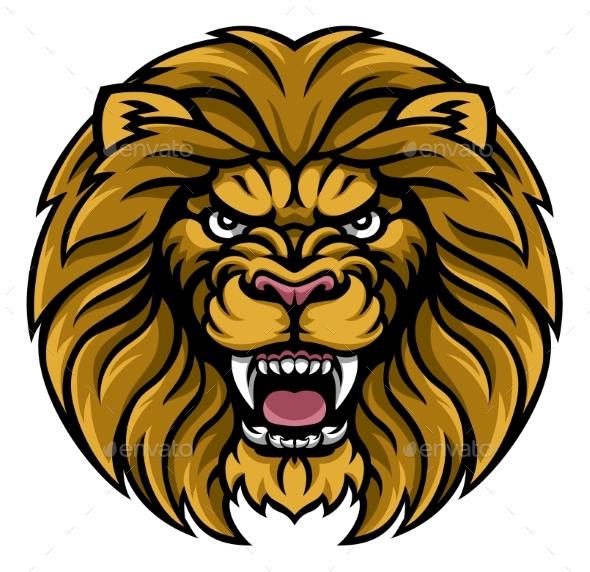 GraphicRiver Lion Sports Mascot 20405499