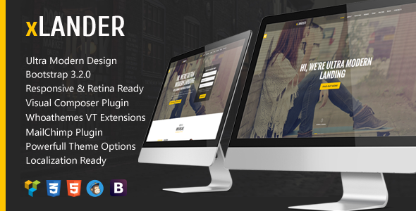 xLander - Startup Landing Page Bootstrap WP Theme - Marketing Corporate