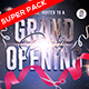 Grand Opening Pack Flyer with Facebook cover and Instagram Banner