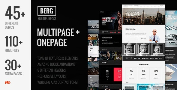 Berg - Multipurpose One Page & Multi Page Joomla Template