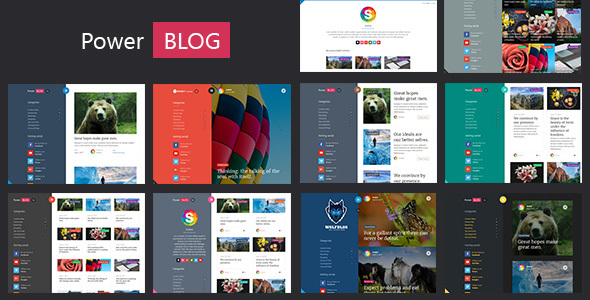 PowerBlog - Modern AJAX Blog Theme - News / Editorial Blog / Magazine