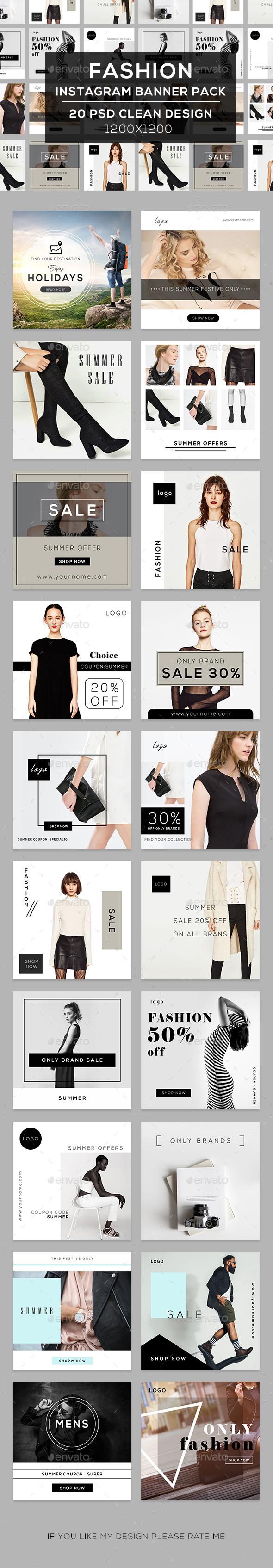 Fashion Instagram Banners - Social Media Web Elements