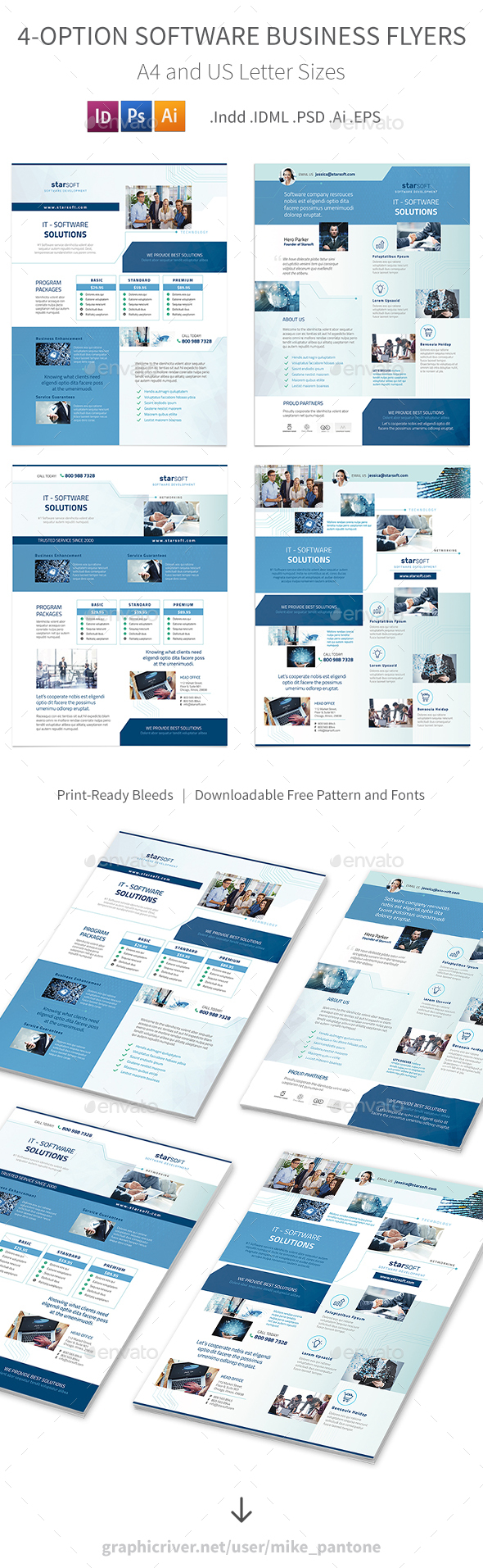 Software Business Flyers – 4 Options - Corporate Flyers