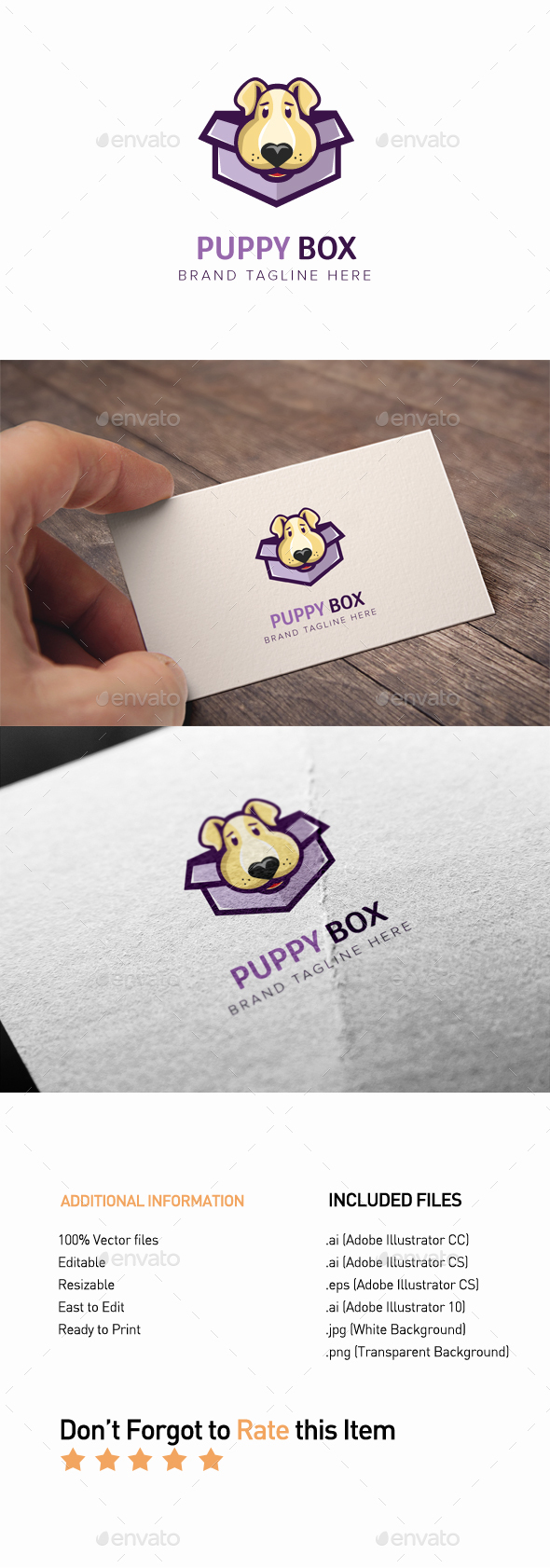 GraphicRiver Puppy Box Logo 20405939