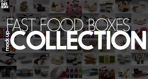 Fast Food Boxes  Mock Up Collection