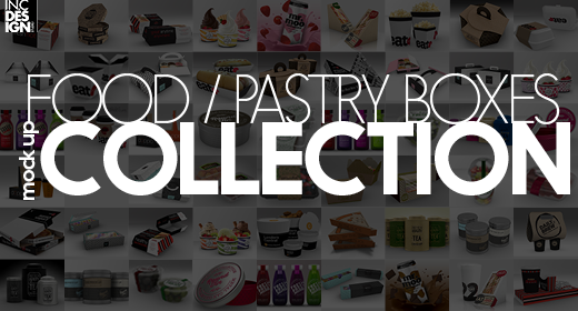 Food & Pastry Boxes Mock Up Collection