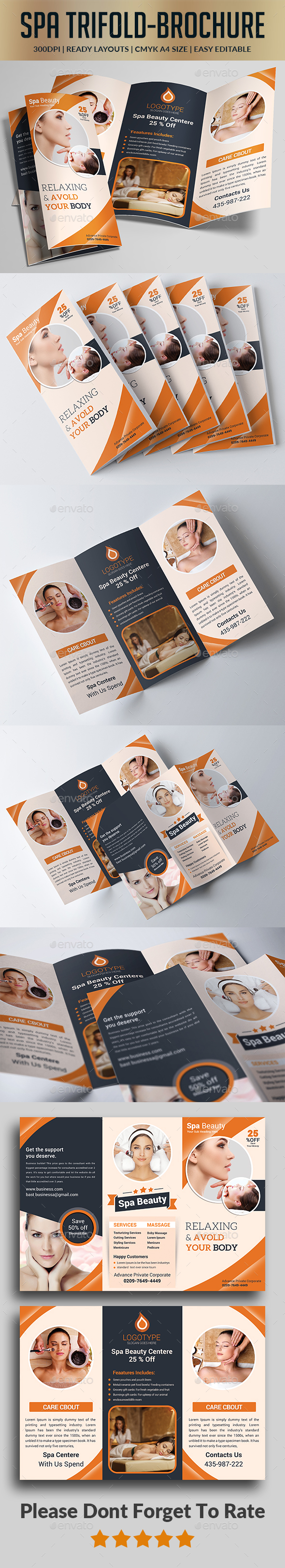 Spa Trifold Brochure - Informational Brochures