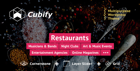 Cubify | Multi-purpose entertainment WordPress theme - Entertainment WordPress