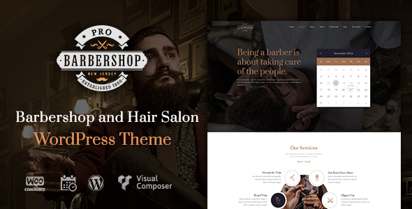 Barbershop Pro - Responsive WordPress Theme