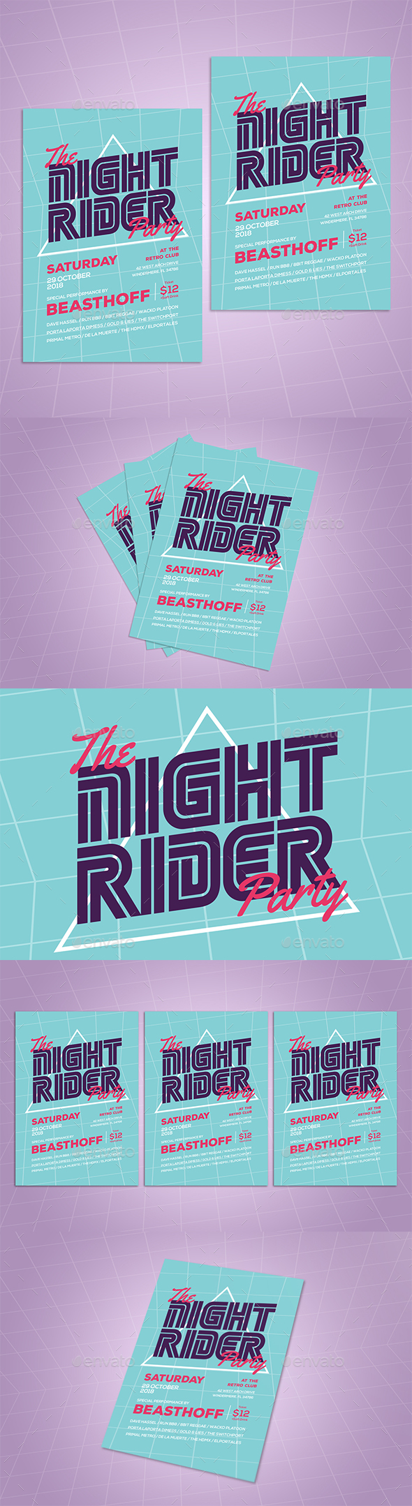 Retro Music Flyer - Events Flyers