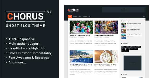 Chorus - Blog and  Magazine Ghost Theme