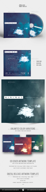 Minimal - CD Cover Artwork Template - CD & DVD Artwork Print Templates