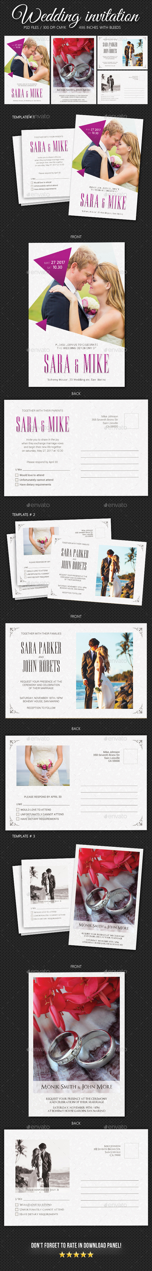 Wedding Invitation Bundle 4 - Weddings Cards & Invites