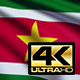 Suriname Flag 4K - VideoHive Item for Sale