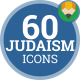 Judaism Jewish Hebrew Religion - Flat Animated Icons and Elements