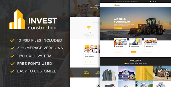 INVEST - Construction PSD Template - Business Corporate