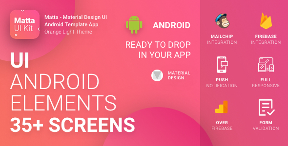 CodeCanyon Matta Material Design Android UI Template Theme App 20406469