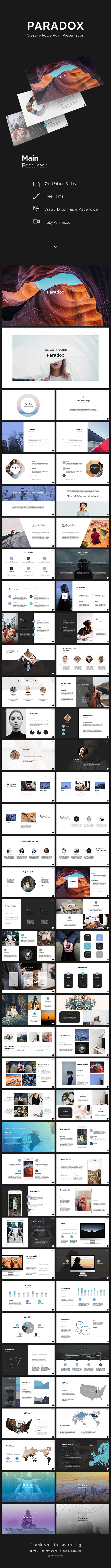 Paradox PowerPoint Template - PowerPoint Templates Presentation Templates