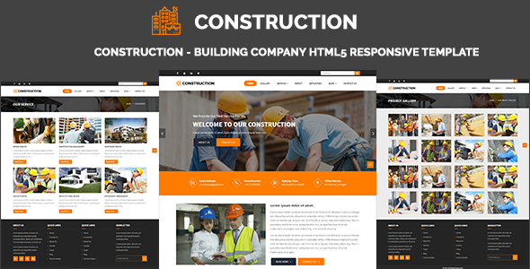 Construction - Building Company HTML5 Responsive Template