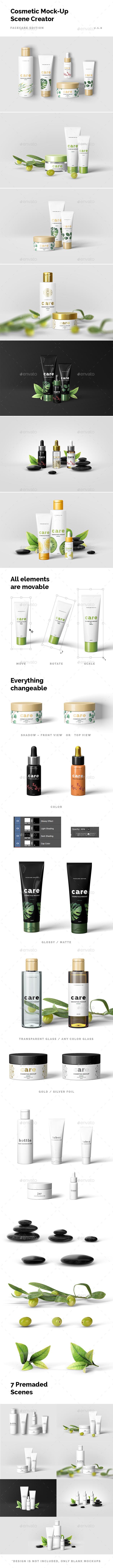 Cosmetic Mock-Up Scene Creator - Beauty Packaging