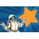 Female Astronaut Opens Arms Dream Star