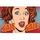 Sale Comic Text Pop Art Woman