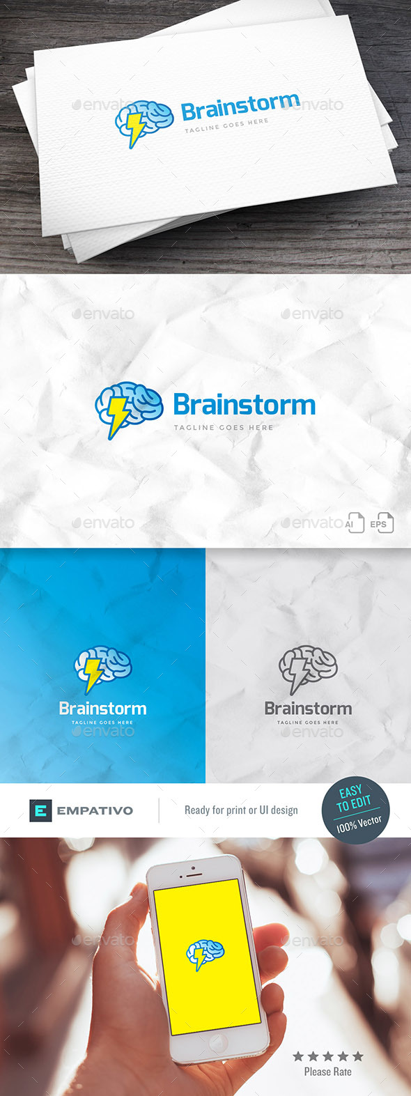 Brainstorm Logo Template - Symbols Logo Templates