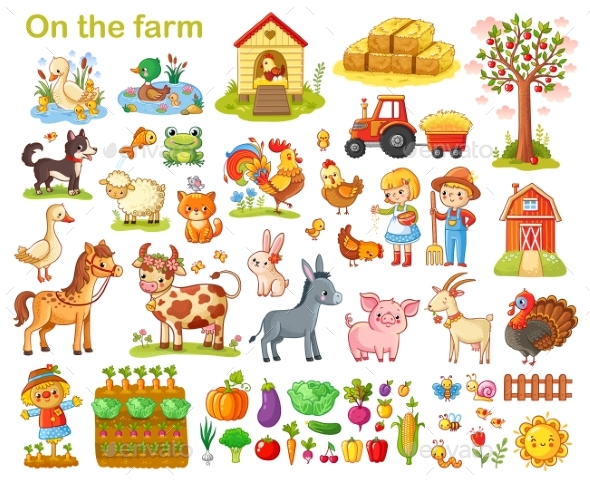 Farm Set with Animals