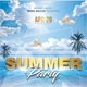 Summer Dj Party Poster - GraphicRiver Item for Sale
