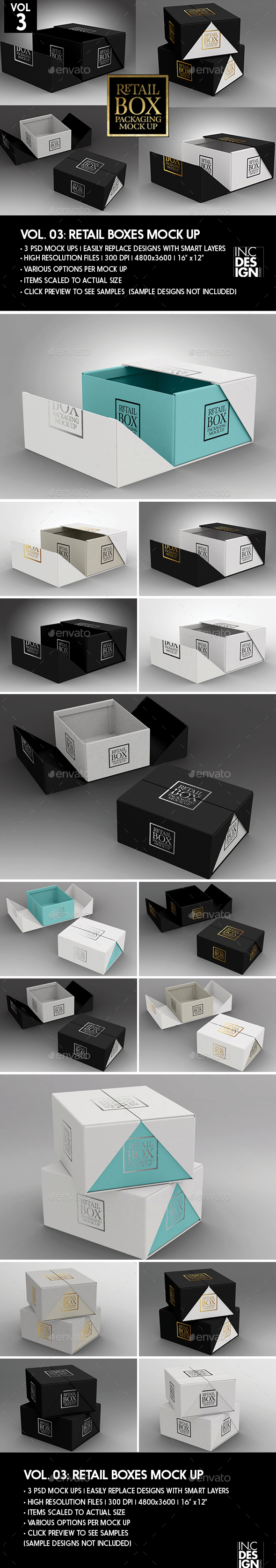 Retail Boxes Vol.3: Fold Up Box Packaging Mock Ups