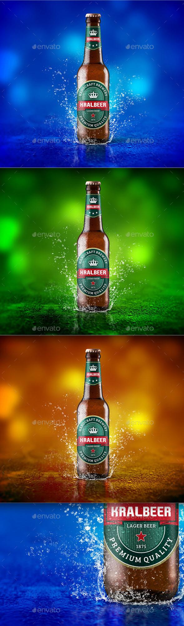 Beer Mockup - Food and Drink Packaging