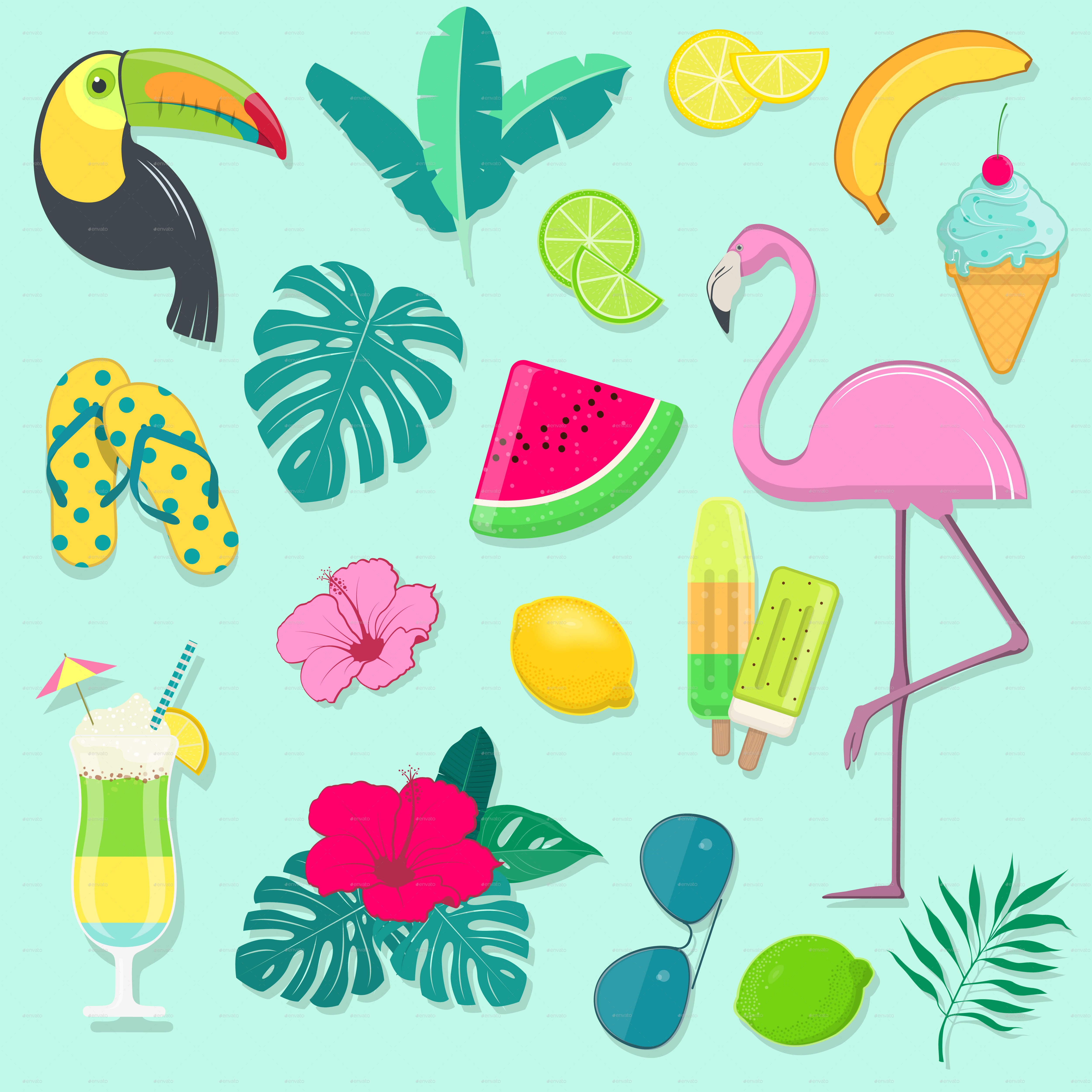 Vector Collection of Summer Party Icons