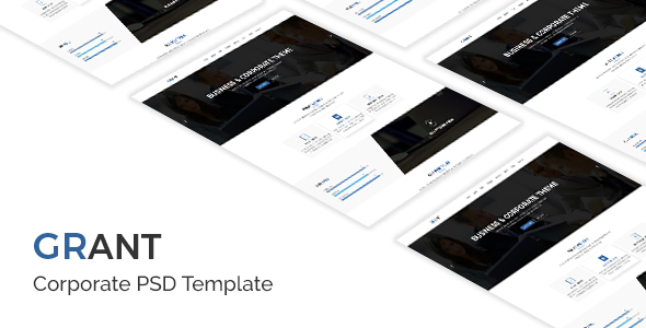 Free Download Grant – Corporate PSD Template