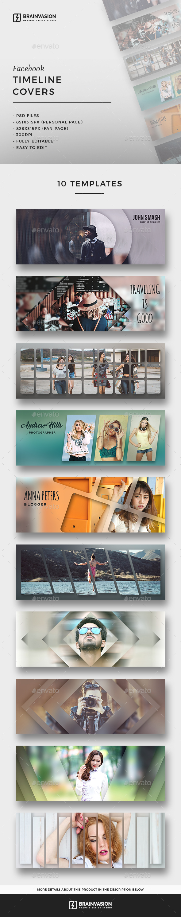 Creative Facebook Timeline Covers Bundle - Facebook Timeline Covers Social Media
