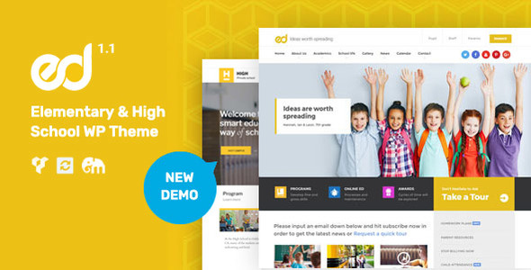 Ed School – Elementary, Middle and Highschool WordPress Theme