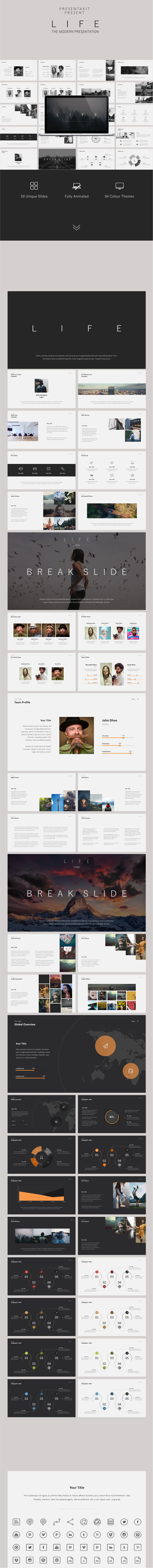 Life - Modern Presentation Template - Business PowerPoint Templates