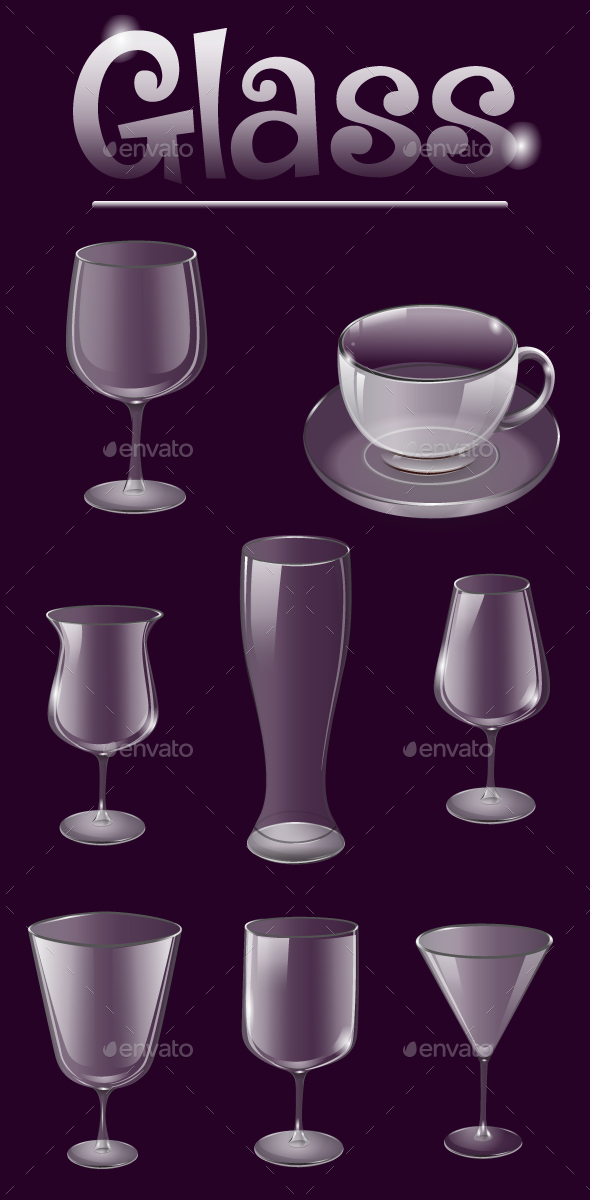 Glass Cup and Glass for Juice