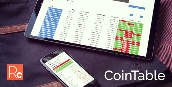 Coin Table  - Cryptocurrency Market CMS - CodeCanyon Item for Sale