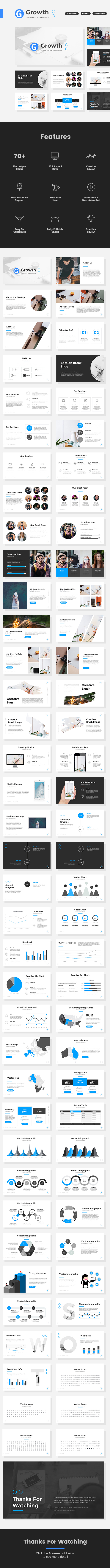 Growth - Start Up Pitch Deck Keynote Template - Keynote Templates Presentation Templates