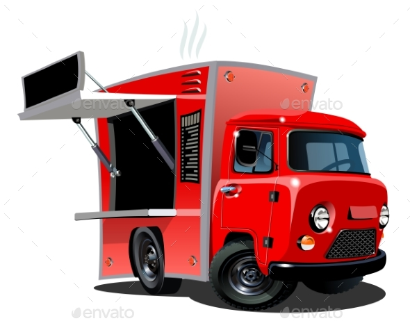 GraphicRiver Cartoon Food Truck 20407058