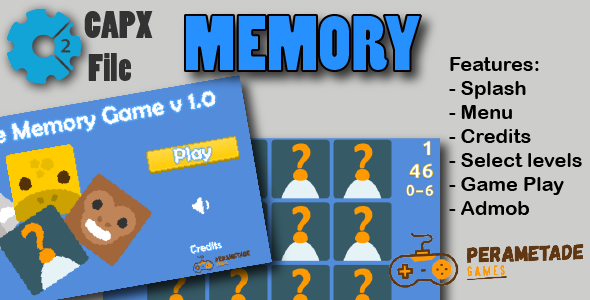 Memory Game - HTML5 Game - Construct 2 CAPX - CodeCanyon Item for Sale