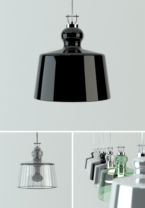 Acquatinta pendent lamp - 3DOcean Item for Sale
