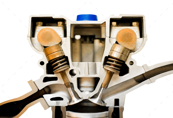engine cutaway - Stock Photo - Images