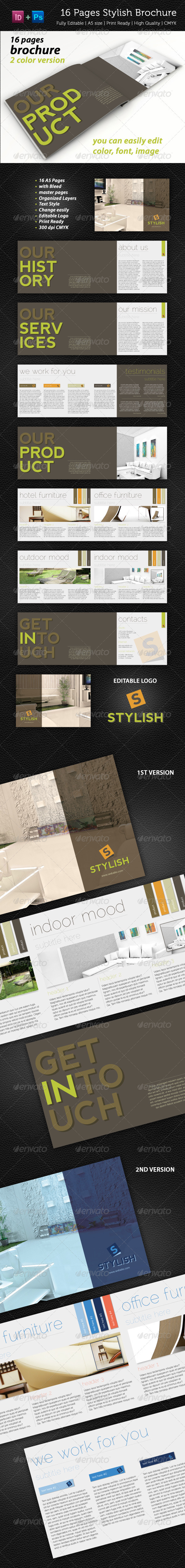 16 Pages Stylish Brochure - Corporate Brochures