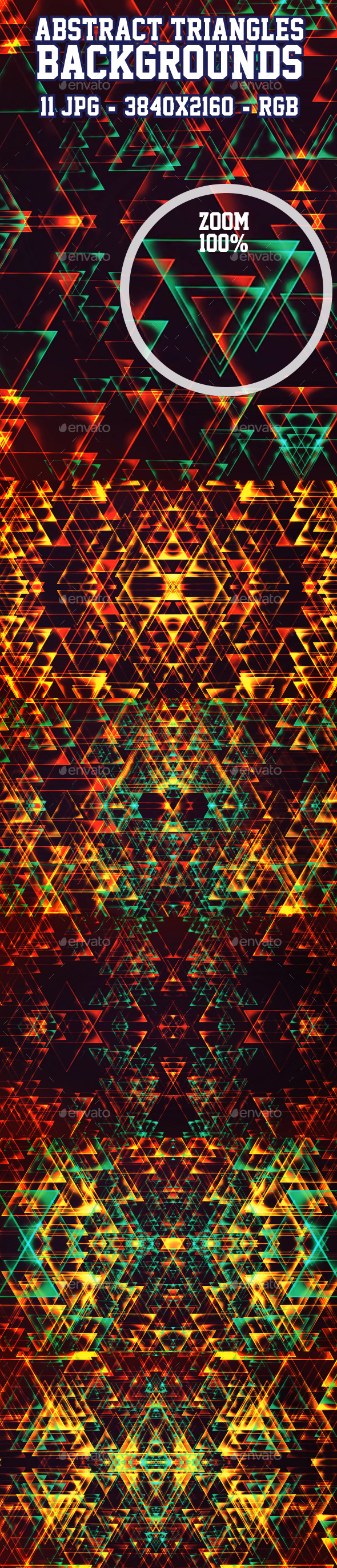 Abstract Triangles Backgrounds 11 in 1 - Abstract Backgrounds