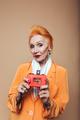Amazing mature redhead fashion woman
