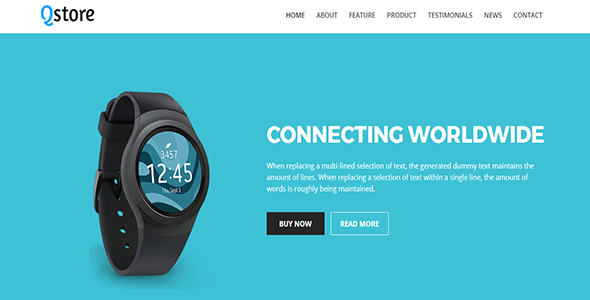 Qstore – Single Products Landing Page Template