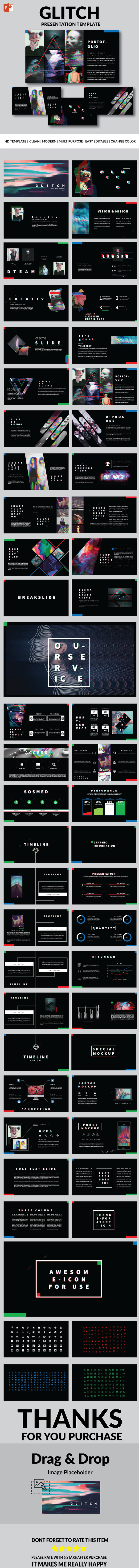 Glitch - Multipurpose PowerPoint Template - PowerPoint Templates Presentation Templates