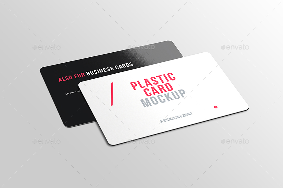 Plastic / Credit Card Mockup by moement | GraphicRiver